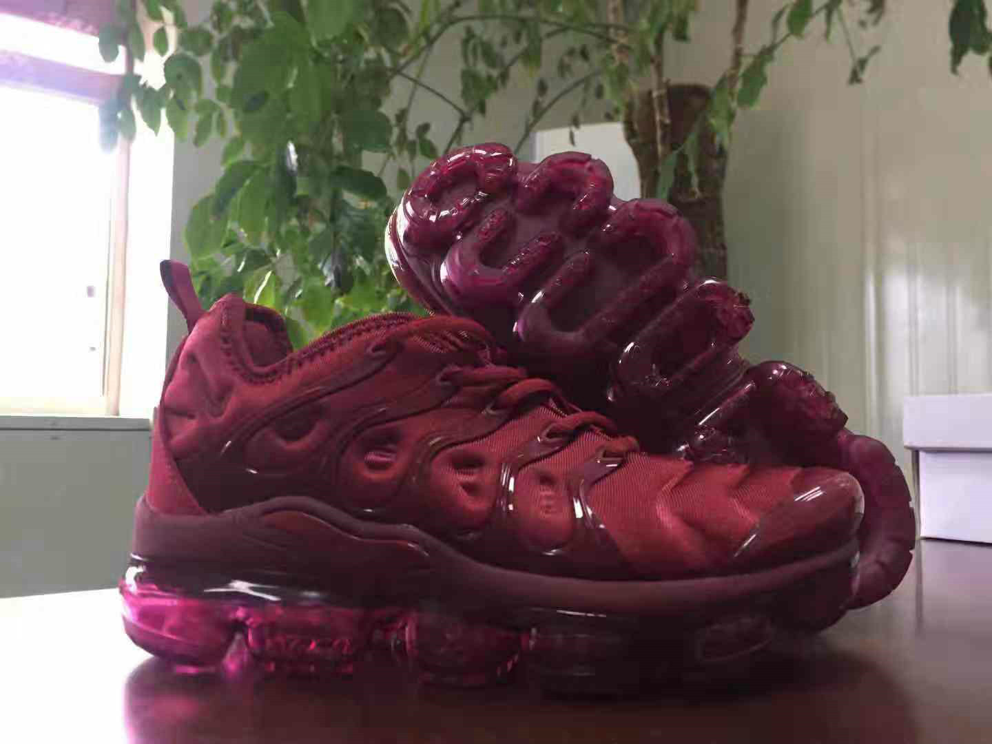 Cheap Wholesale Nike Air VaporMax Plus Wine Red Fashion Sneakers - www.wholesaleflyknit.com