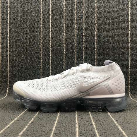 buy popular 66686 2e2dd Cheap Wholesale Nike Air Vapormax FLYKNIT 2.0 942842-105 White Vast Grey  Blanc Gris Infini
