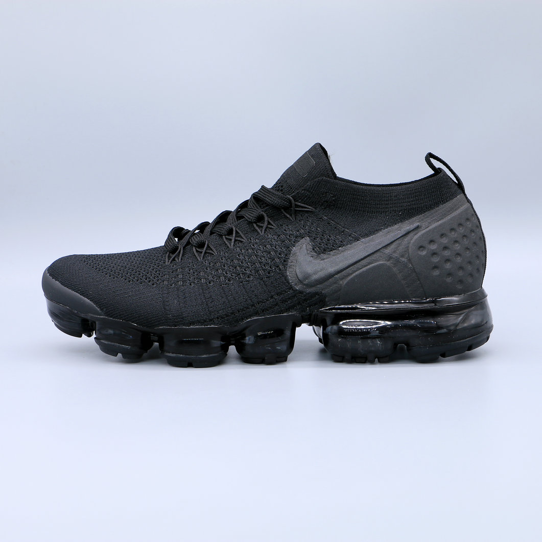 Cheapest Wholesale Nike Air Vapormax Flyknit 2.0 Triple Black Noir Blanc - www.wholesaleflyknit.com