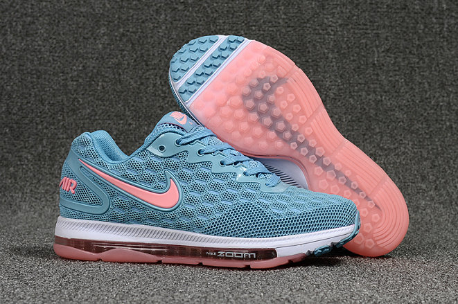 Wholesale Cheap Nike Air Zoom All Out Womens Pink White Blue Running - www.wholesaleflyknit.com