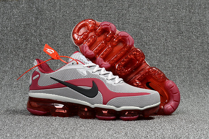 Wholesale Cheap Nike AirMax 2018 Mens Sneakers MD Wine Red Grey Fire Red - www.wholesaleflyknit.com