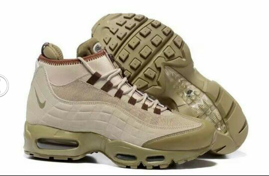 Wholesale Cheap Nike AirMax 95 Creamy White Brown Sneakers Boots - www.wholesaleflyknit.com