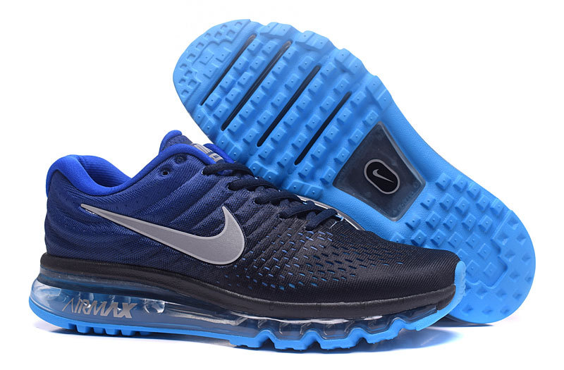 Wholesale Cheap Nike AirMax2017 Running Shoes Royal Blue Black Grey - www.wholesaleflyknit.com