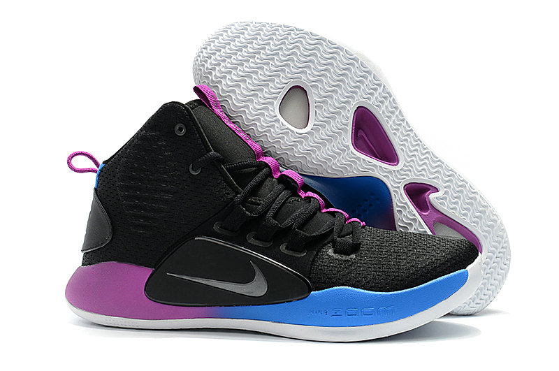 Cheap Wholesale Nike Hyperdunk X EP Basketball Shoes Black Purple Blue- www.wholesaleflyknit.com