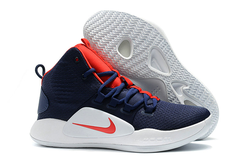 Cheap Wholesale Nike Hyperdunk X EP Basketball Shoes Red Royal Blue White- www.wholesaleflyknit.com