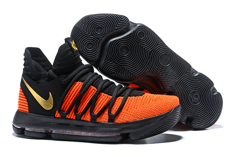 Wholesale Cheap Nike KD 10 China Exclusive Black Orange Gold For Sale - www.wholesaleflyknit.com