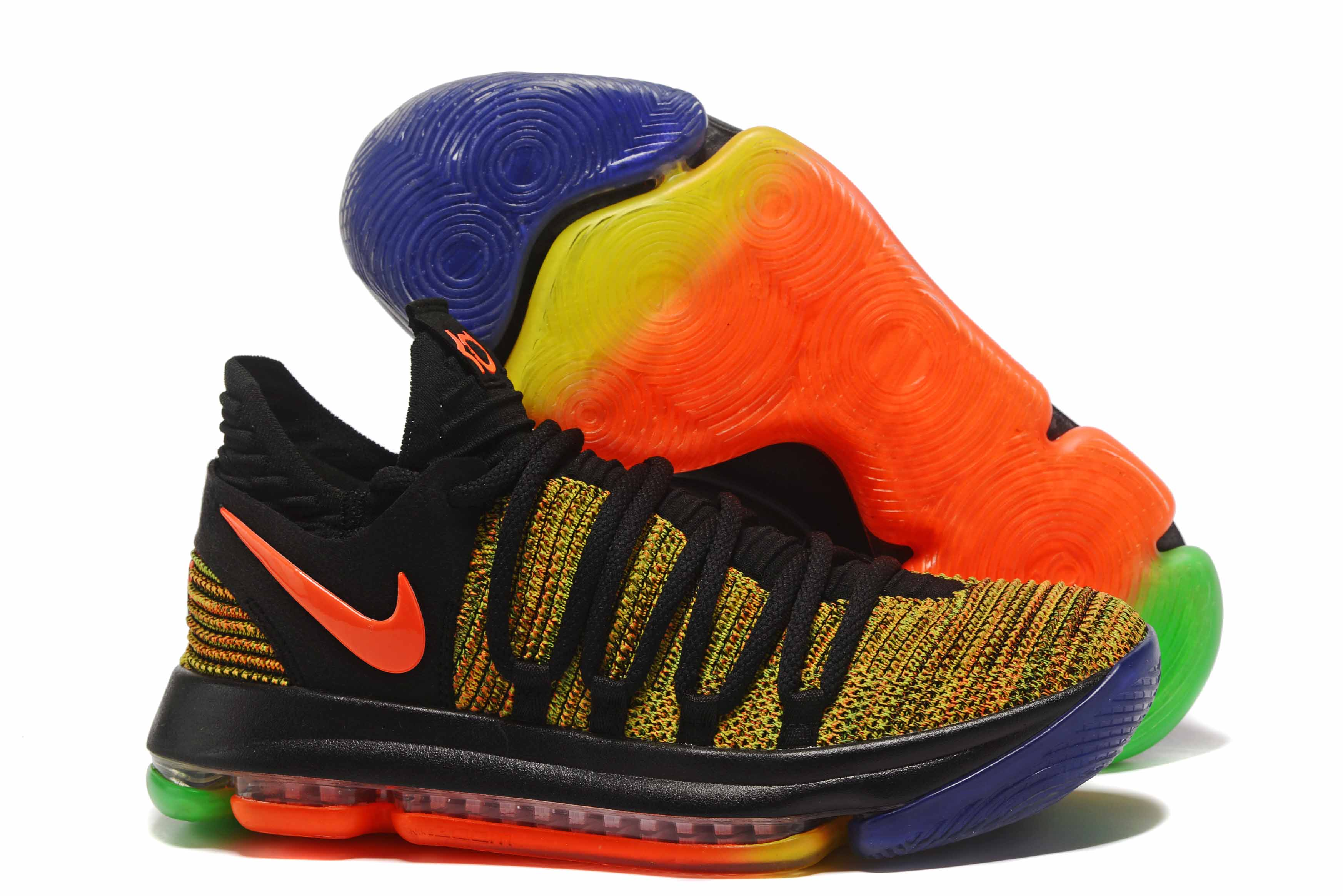 Wholesale Cheap Nike KD 10 EYBL Peach Jam Multi-Color For Sale - www.wholesaleflyknit.com