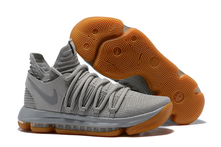 Wholesale Cheap Nike KD 10 Pale Grey Light Bone-Gum For Sale - www.wholesaleflyknit.com