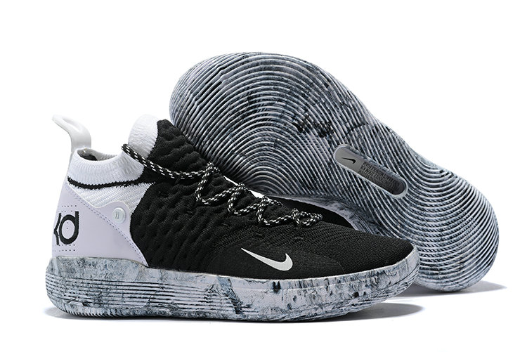 Cheap Wholesale Nike KD 11 Basketball Shoes Black Grey White- www.wholesaleflyknit.com