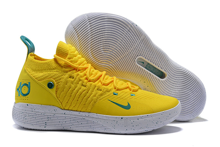 Cheap Wholesale Nike KD 11 Basketball Shoes Yellow Green White- www.wholesaleflyknit.com