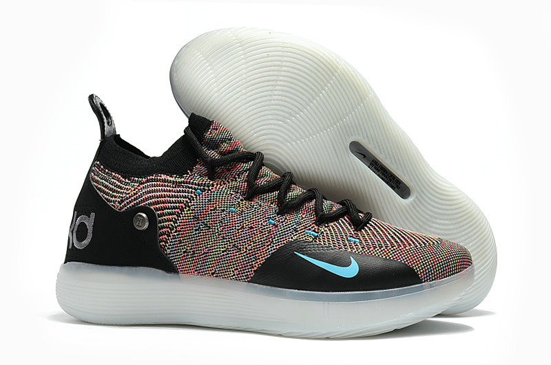 Wholesale Cheap Nike KD 11 For Womens Colorful Black White - www.wholesaleflyknit.com