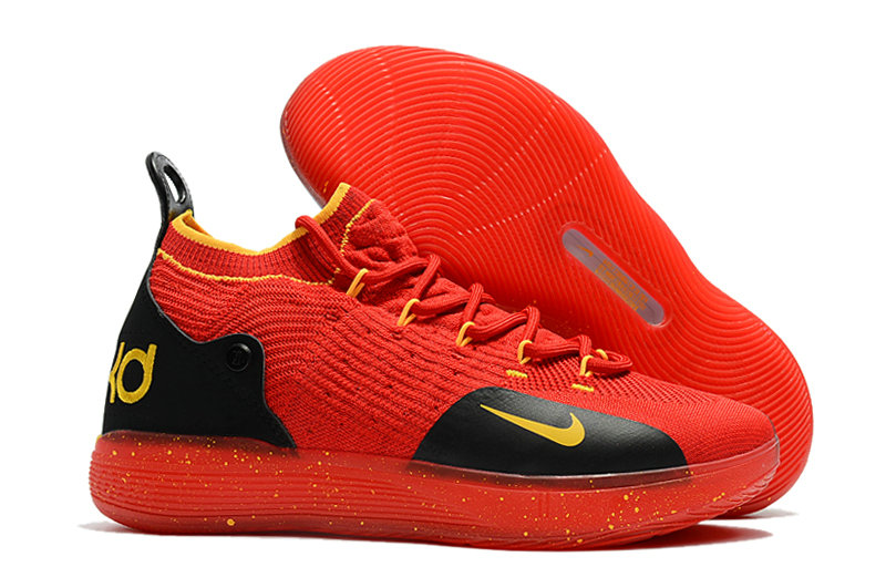 Wholesale Cheap Nike KD 11 For Womens Red Yellow Black - www.wholesaleflyknit.com