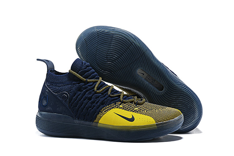 055ec5e49351 Wholesale Cheap Nike KD 11 Michigan College Navy University Gold  AO2604-400-www.
