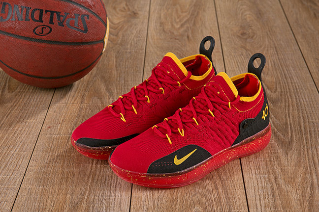 Cheap Wholesale Nike KD 11 XI Red Black Yellow On www.wholesaleoffwhite.com