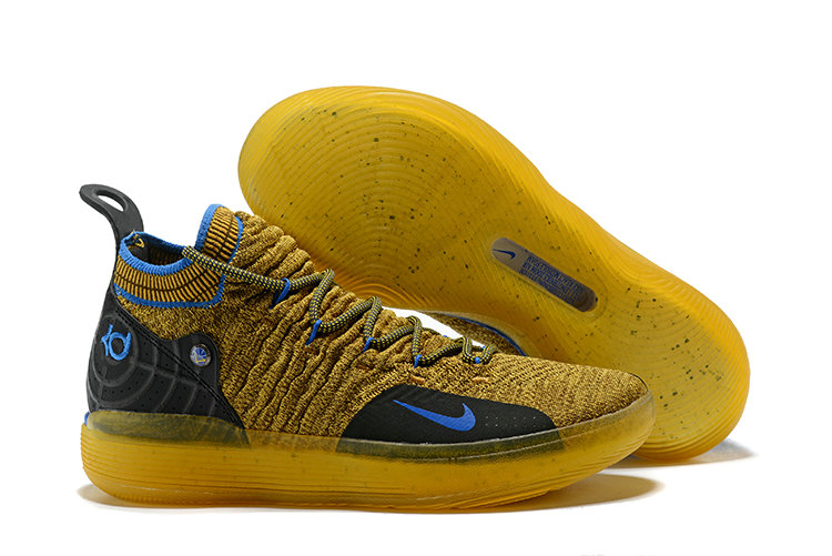 Cheap Wholesale Nike Kevin Durant 11 XI Blue Black Yellow On www.wholesaleoffwhite.com