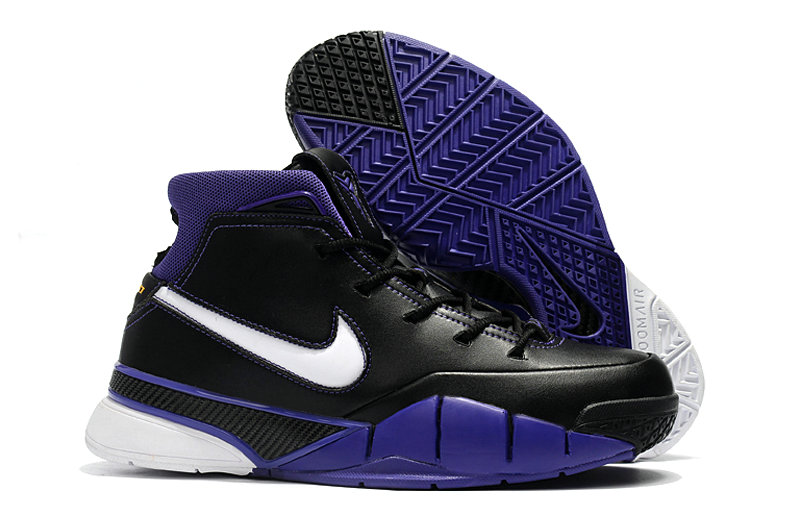 Cheap Wholesale Nike Kobe 1 Protro Basketball Shoes Black Blue White- www.wholesaleflyknit.com