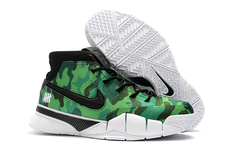 Cheap Wholesale Nike Kobe 1 Protro Basketball Shoes Green Black White- www.wholesaleflyknit.com