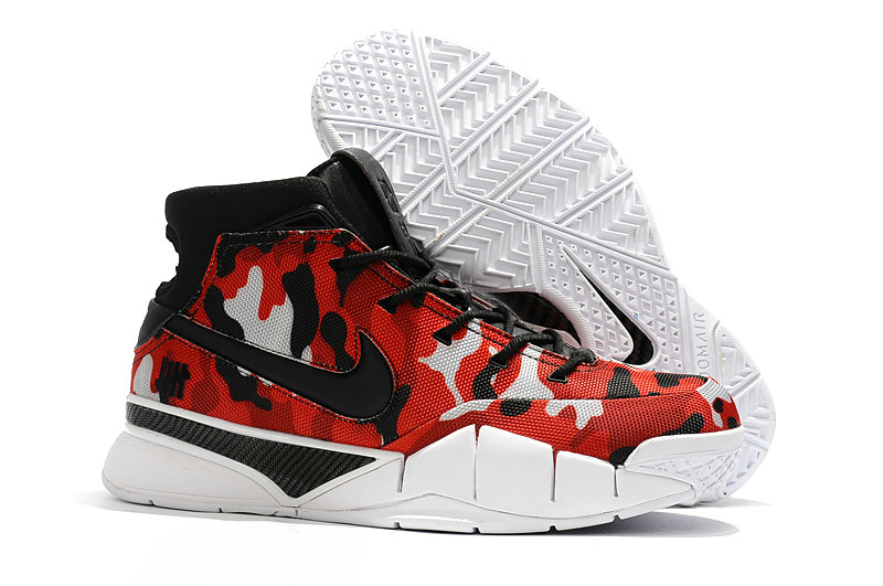 Cheap Wholesale Nike Kobe 1 Protro Basketball Shoes University Red Black White- www.wholesaleflyknit.com