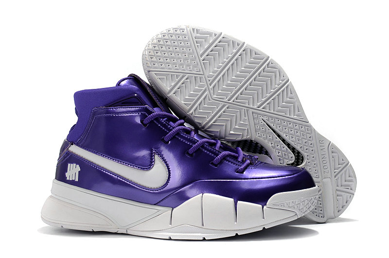 Cheap Wholesale Nike Kobe 1 Protro Basketball Shoes White Purple- www.wholesaleflyknit.com