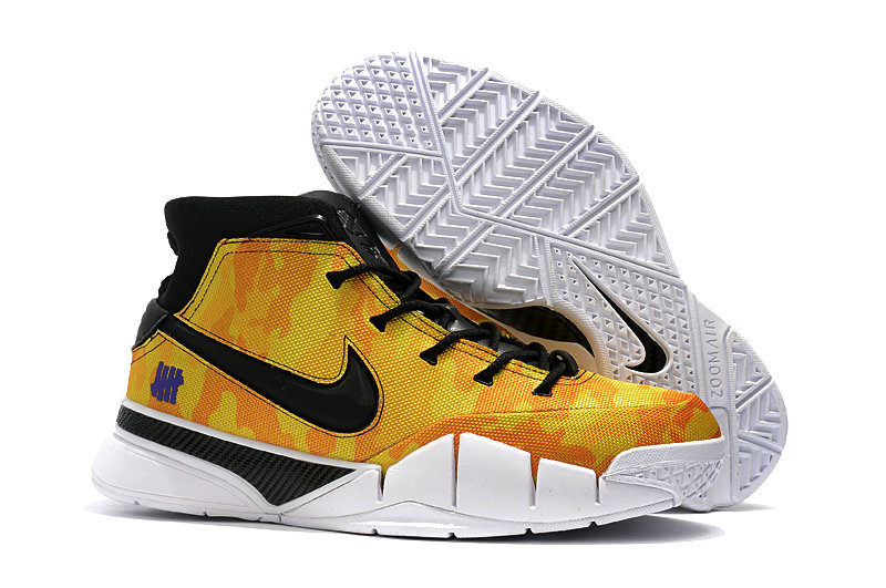 Cheap Wholesale Nike Kobe 1 Protro Basketball Shoes Yellow Black White- www.wholesaleflyknit.com