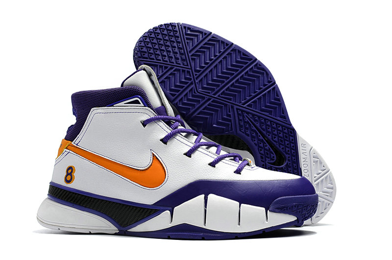 Wholesale Cheap Nike Kobe 1 Protro Mens Orange White Purple - www.wholesaleflyknit.com