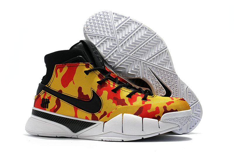 Wholesale Cheap Nike Kobe 1 Protro Mens Yellow Red Black White - www.wholesaleflyknit.com