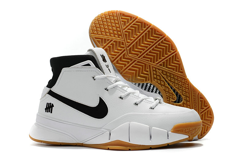 Cheapest Wholesale Nike Kobe 1 Protro White Black - www.wholesaleflyknit.com