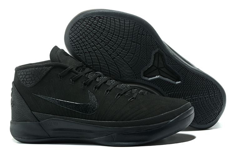Wholesale Cheap Nike Kobe A.D. Mid Triple Black For Sale - www.wholesaleflyknit.com