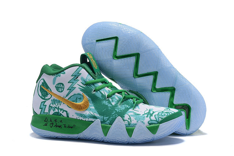 Cheapest Wholesale Nike Kyrie 4 Boston Celtics Green White Gold - www.wholesaleflyknit.com