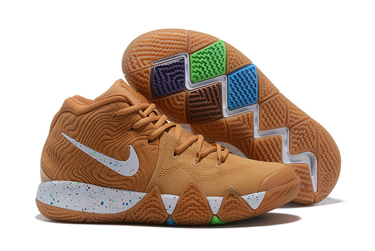 Wholesale Cheap Nike Kyrie 4 Cinnamon Toast Crunch Metallic Gold Coin White BV0426-900-www.wholesaleflyknit.com
