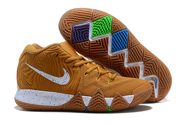 Cheapest Wholesale Nike Kyrie 4 Cinnamon Toast Crunch Metallic Gold Coin White For Sale - www.wholesaleflyknit.com