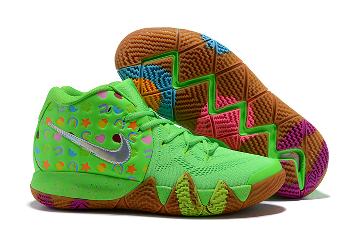 Cheapest Wholesale Nike Kyrie 4 Green Lucky Charms For Sale - www.wholesaleflyknit.com