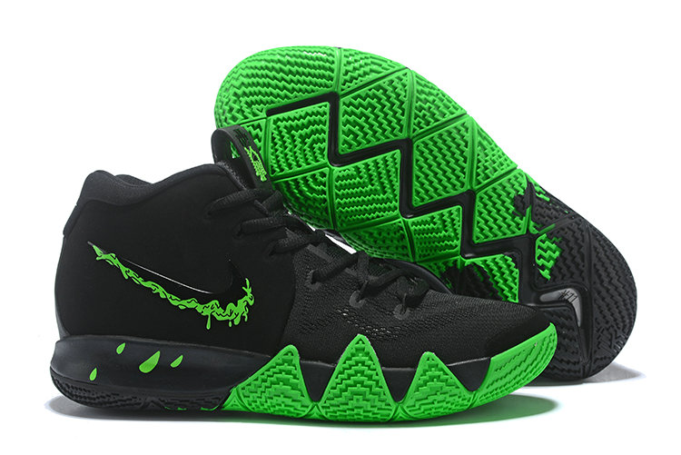 Cheapest Wholesale Nike Kyrie 4 Halloween Black Rage Green - www.wholesaleflyknit.com