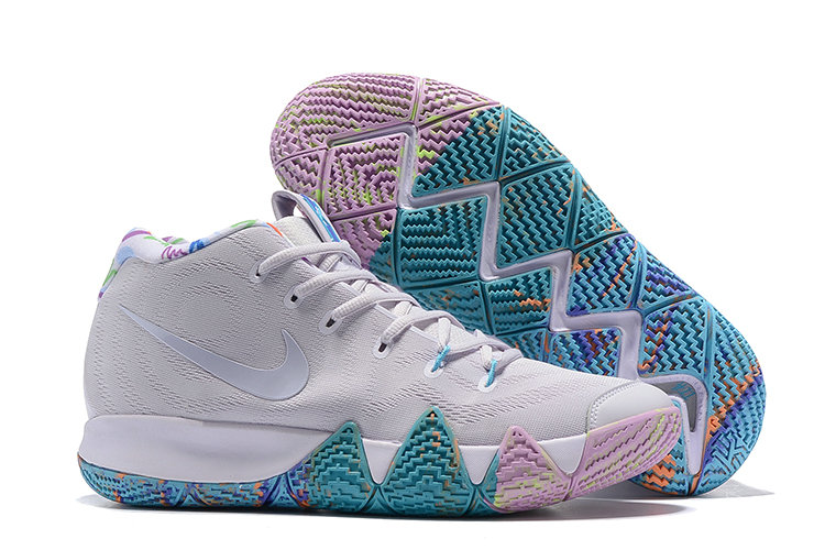 d48e0d48c632 Cheap Wholesale Nike Kyrie 4 Irving Basketball Shoes Bright Grey Pure  Purple Jade- www.