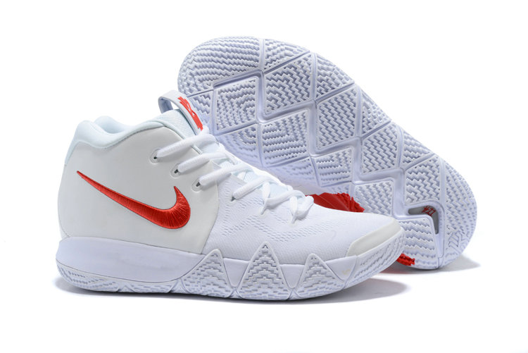 Cheap Wholesale Nike Kyrie 4 Irving Basketball Shoes Fire Red White- www.wholesaleflyknit.com