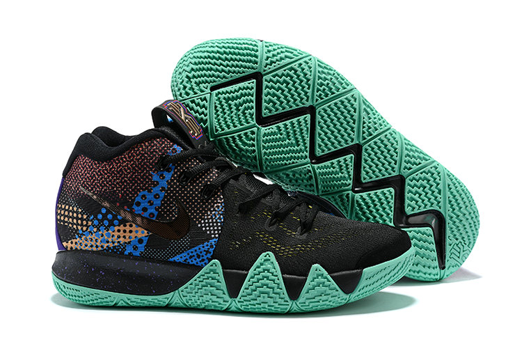 Cheap Wholesale Nike Kyrie 4 Irving Basketball Shoes Gold Black Grass Green- www.wholesaleflyknit.com