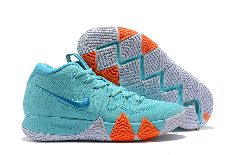 3ffcd08220ae Cheap Wholesale Nike Kyrie 4 Irving Basketball Shoes Orange White Apple  Green- www.wholesaleflyknit
