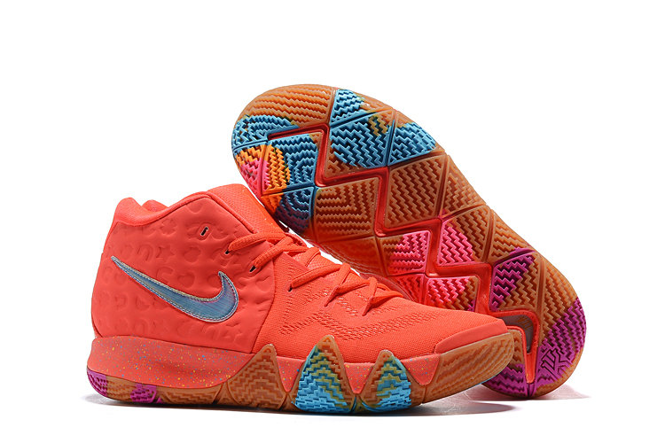 Cheap Wholesale Nike Kyrie 4 Irving Basketball Shoes Red Blue Purple- www.wholesaleflyknit.com