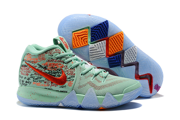 Cheap Wholesale Nike Kyrie 4 Irving Basketball Shoes Red Jade Bright- www.wholesaleflyknit.com