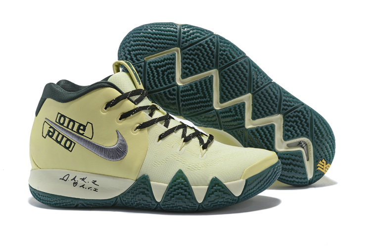 a7caa88c7c5d Cheap Wholesale Nike Kyrie 4 Irving Basketball Shoes Rice Yellow Black  Silver Grey- www. Loading zoom