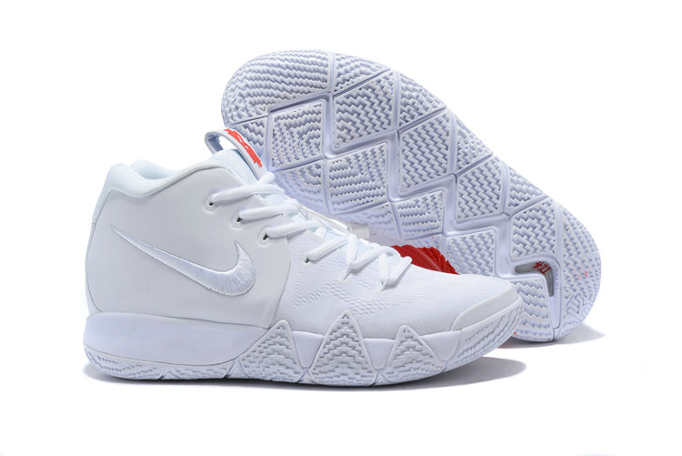 Cheap Wholesale Nike Kyrie 4 Irving Basketball Shoes Triple White- www.wholesaleflyknit.com