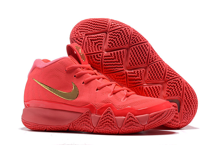 Cheap Wholesale Nike Kyrie 4 Irving Basketball Shoes University Red Gold- www.wholesaleflyknit.com