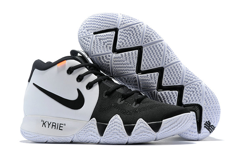 9cbd68e2448 Cheap Wholesale Nike Kyrie 4 Irving Basketball Shoes White Black-  www.wholesaleflyknit.com