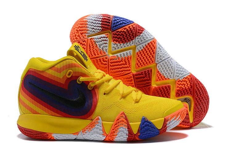 0ac7d316b4f Cheap Wholesale Nike Kyrie 4 Irving Basketball Shoes Yellow White Black  Orange Red Blue- www
