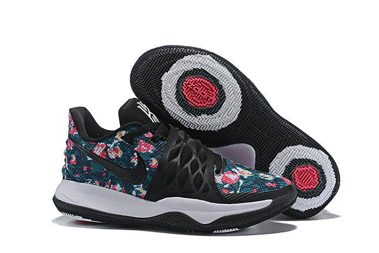 Cheapest Wholesale Nike Kyrie 4 Low EP Floral Irving Black Basketball AO8980-002 - www.wholesaleflyknit.com