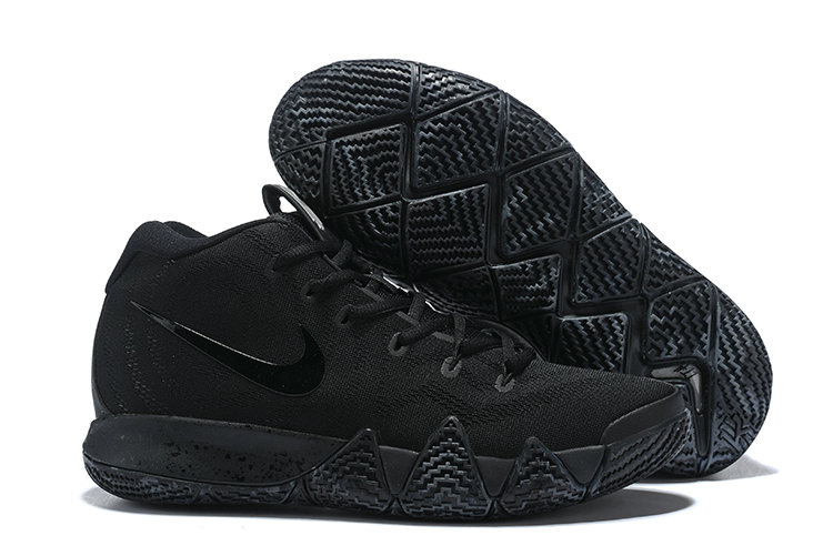 Cheapest Wholesale Nike Kyrie 4 Total Black Blanc Triple Black - www.wholesaleflyknit.com