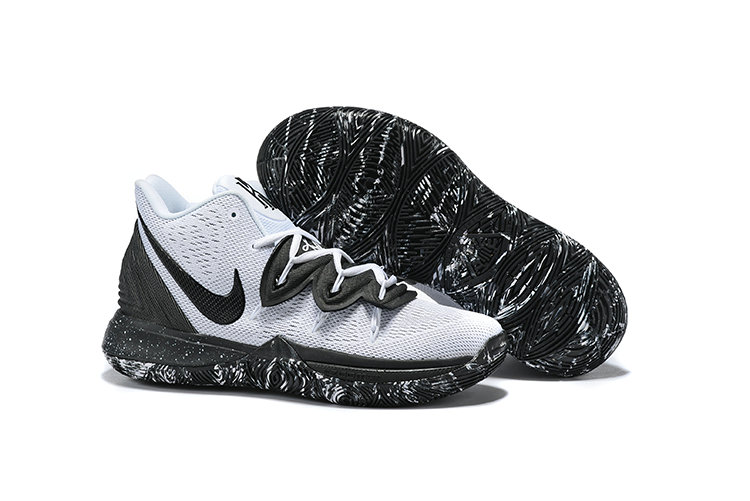 Cheapest Wholesale Nike Kyrie 5 Cookies And Cream White Black AO2918-100 - www.wholesaleflyknit.com