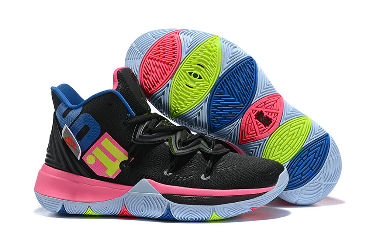 Wholesale Cheap Nike Kyrie 5 Irvings Just DO It Pink Black White Blue-www.wholesaleflyknit.com