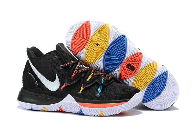 Cheapest Wholesale Nike Kyrie 5 Irvings VI Black White Colorful - www.wholesaleflyknit.com