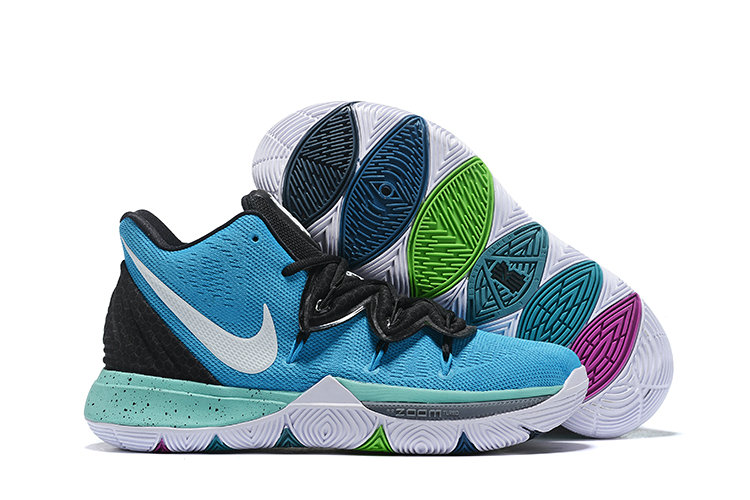Cheapest Wholesale Nike Kyrie 5 Irvings VI Blue White Black Aqua White - www.wholesaleflyknit.com
